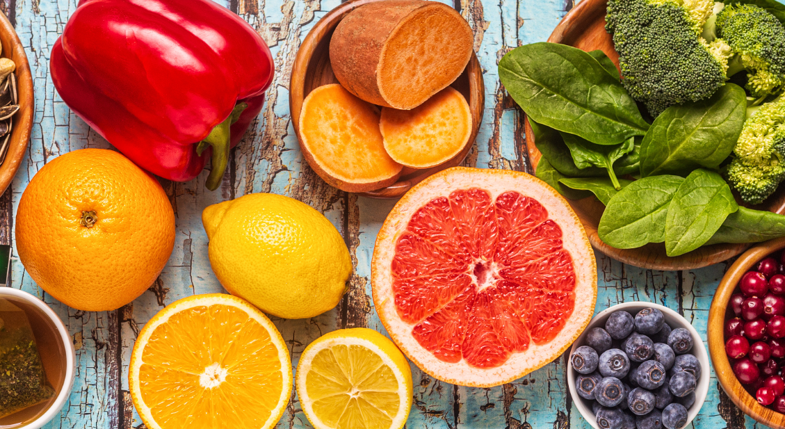 Obst und Gemüse für gute Sehschärfe