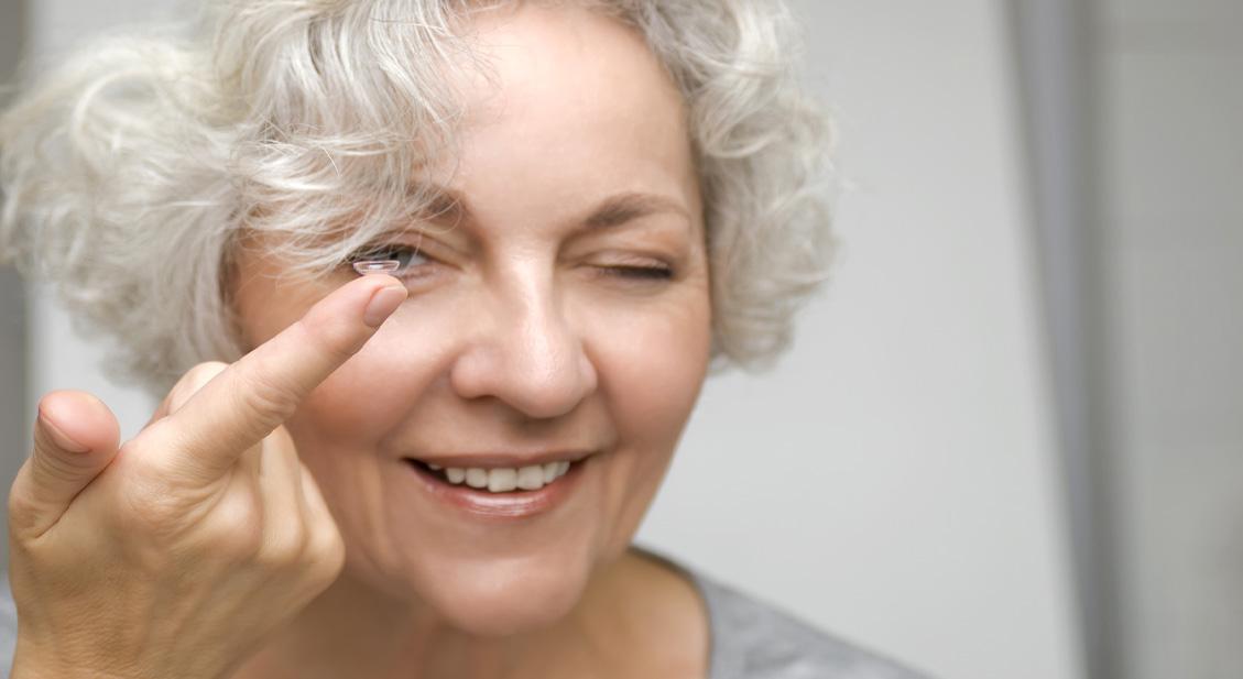 Kontaktlinsen gegen die Alterssichtigkeit